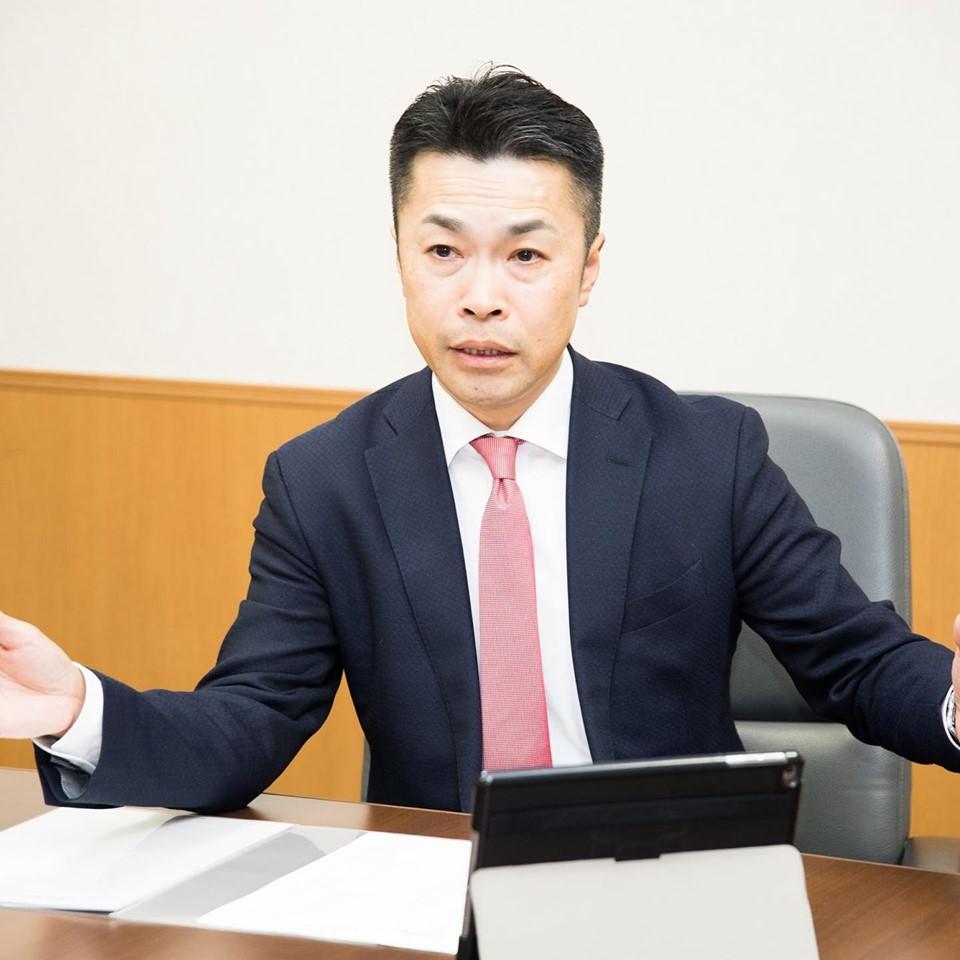 現金損益(R)経営岡山の社外財務担当・田口太彦さん(53歳)。出会いから2カ月ほどでP2500万の保険をお預かりした。